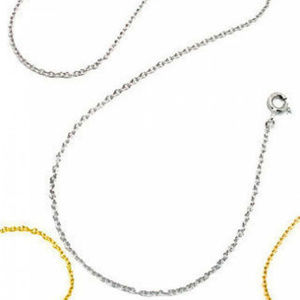 NWT 925 sterling silver curb chain white or yellow